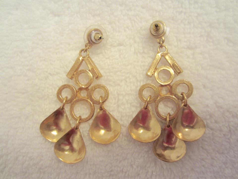 Gerard yosca gold and crystal chandelier dangle earrings signed 1234567891011 aloadofball Image collections