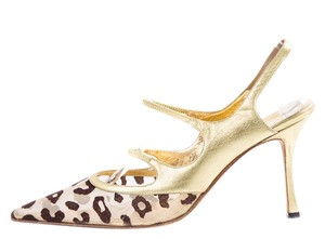 Manolo Blahnik Gold Formal