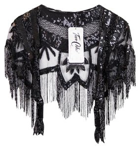 Tan Chho Hand-beaded Festival Shawl Cape