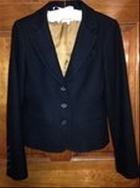 Vince Size 10 Wool Small Black Blazer