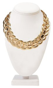 Forever 21 Forever 21 Leaf Goldtone Collar Statement Necklace
