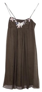 Rebecca Taylor short dress Brown Earthy Embellished on Tradesy