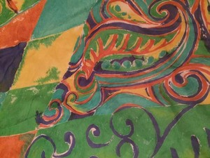 Unique Vintage Italian Silk Scarf