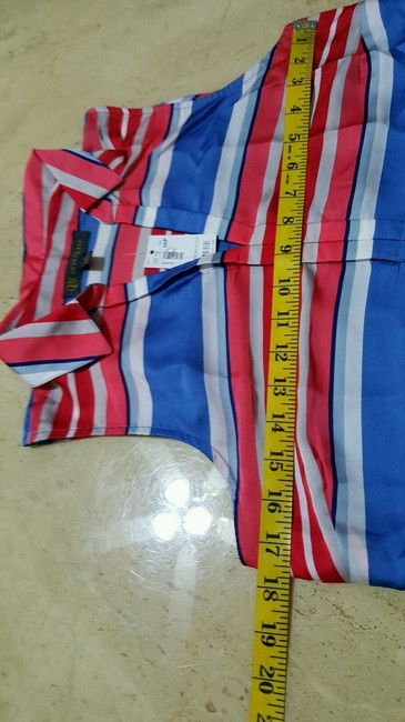 The Limited Top White Blue Red