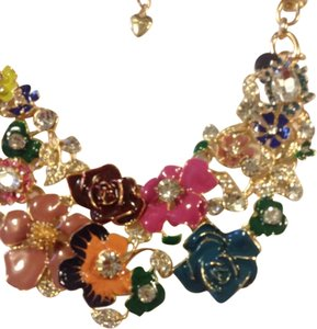 Betsey Johnson Statement Flower Necklace