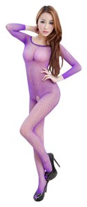 Other Sexy Purple Fishnet Bodystocking Catsuit Lingerie Bodysuit