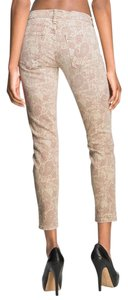 Current/Elliott Print Cropped Pasiley Vintage Skinny Jeans