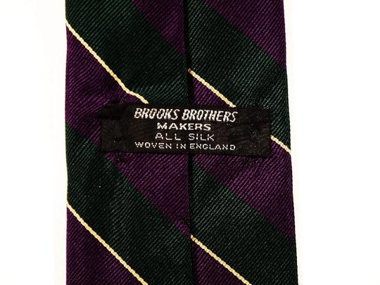 Brooks Brothers Brooks Brothers Makers 100% Silk Tie Green and Purple