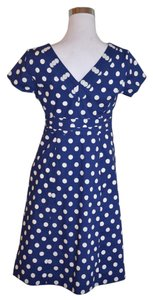 Boden short dress Blue Regatta Polka Dot on Tradesy