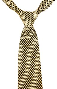 J.Crew J Crew 100% Silk Tie Green and Cream