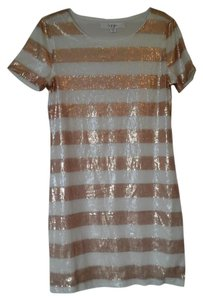 Hype short dress Copper and Cream Sequence on Tradesy