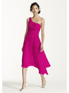 David's Bridal Pink/ Fushia/ Begonia David's Bridal Style Number F15608 Dress