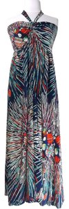 Print Maxi Dress by Strapless Halter