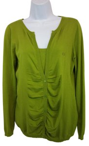 Escada Sport Green Knit Twinset Cardigan