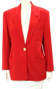 Versace Red Jacket Blazer