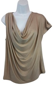 Haute Hippie Gold Stretchy Top