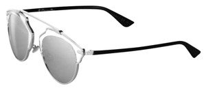 Dior So Real 48mm Silver Mirrored Sunglasses Palladium Crystal/Silver Mirror