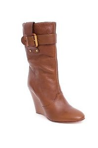 Chloé Chloe Buckle Wedge Brown Boots
