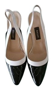 Bally Vintage Slingback Black and White Sandals
