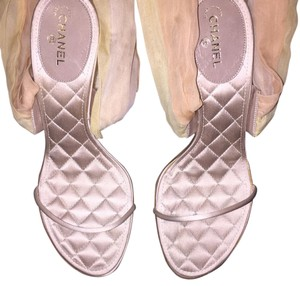 Chanel Chanpagne Beige with satin Sandals