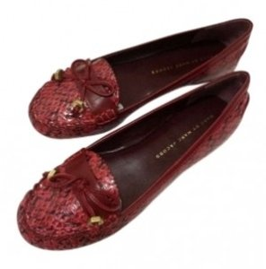 Marc Jacobs Classic Loafer Leather Tassle Burgundy Flats