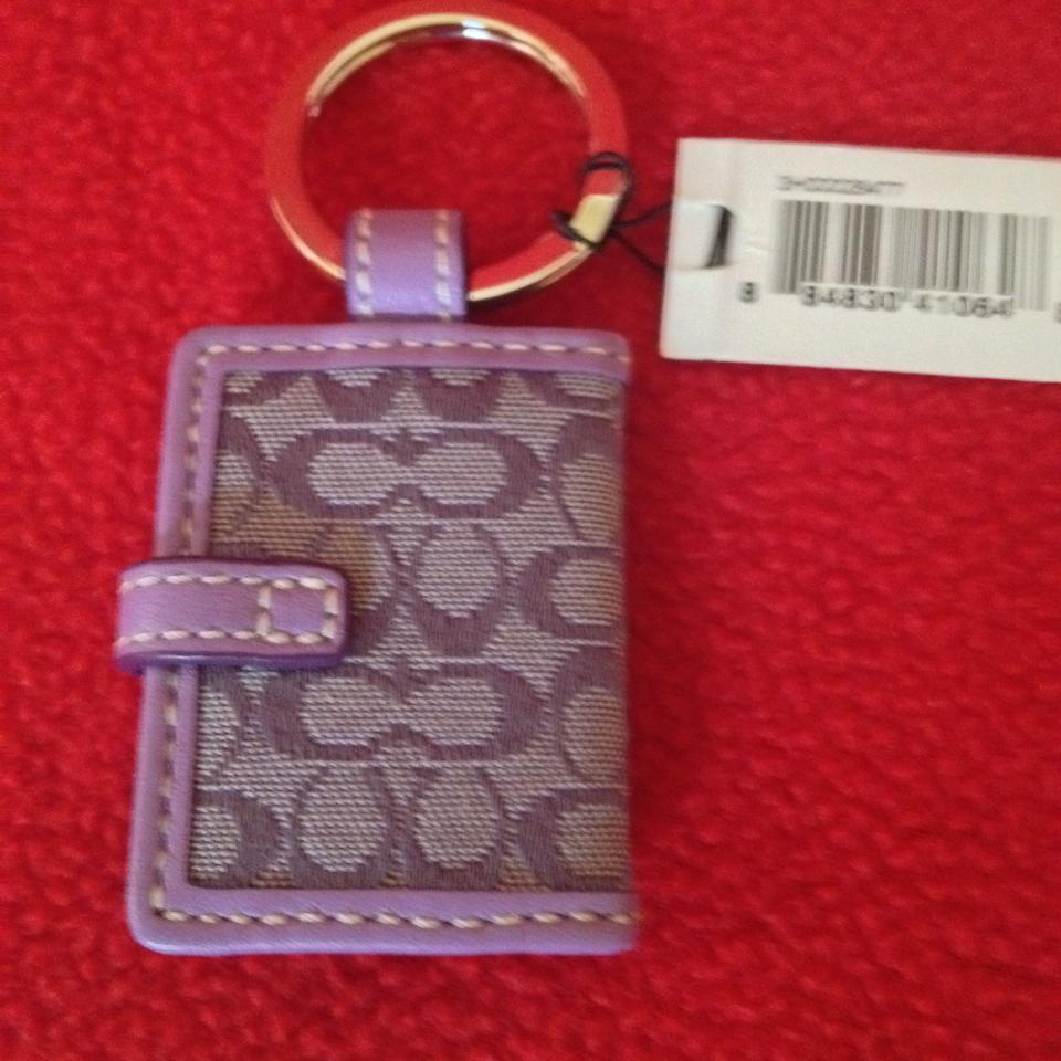 Coach with tags light purple signature c picture frame keychain 123456789 jeuxipadfo Gallery