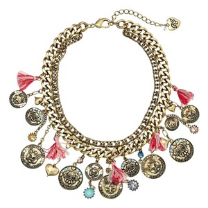 Betsey Johnson Betsey Johnson Cameo Critters Coin Bib Statement Necklace NWT $125