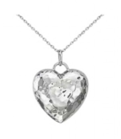 Preload https://item1.tradesy.com/images/blue-nile-sterling-silver-hammered-heart-pendant-necklace-154390-0-0.jpg?width=440&height=440
