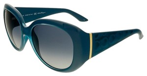 Salvatore Ferragamo Salvatore Ferragamo Petrol Blue Square Sunglasses
