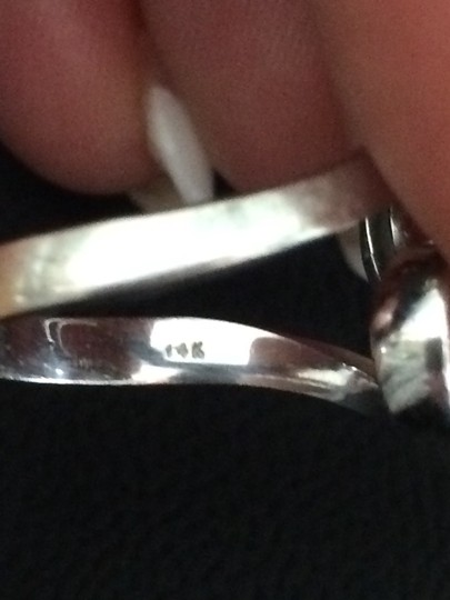 Custom Made by Independant Jeweler 14K White Gold Custom Made Ring SZ-9