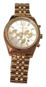 Michael Kors Michael Kors Mid-Size Gold-Tone Stainless Steel Bradshaw Chronograph Watch