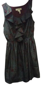 Amina short dress Brown teal Tunic Ruffle Fall on Tradesy