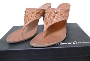 Kenneth Cole Beaded Jeweled camel Sandals