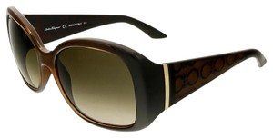 Salvatore Ferragamo Salvatore Ferragamo Brown Square Sunglasses