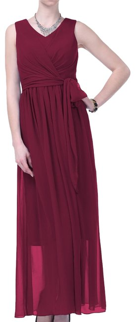 Preload https://item4.tradesy.com/images/red-graceful-sleeveless-waist-tie-long-formal-dress-size-18-xl-plus-0x-154398-0-2.jpg?width=400&height=650