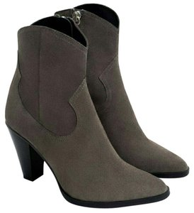 Zara Ankle Genuine Leather gray Boots