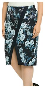 Torrid 1x Plus Size Scuba Skirt blue