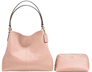 Coach Pebbled Leather Soft Leather Shoulder Bag