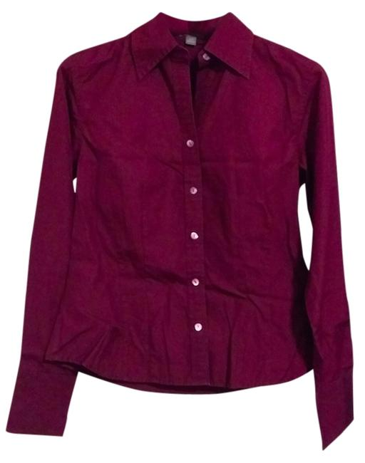 Ann Taylor Button Down Shirt Magenta