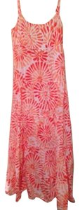 Orange, peach, white Maxi Dress by Jones New York Maxi Of Designer Summer