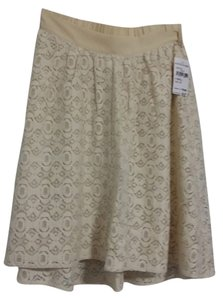 Collective Concepts Lace Skirt cream