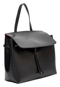 Mansur Gavriel Mini Black Red Shoulder Bag