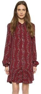 Free People short dress Cranberry Combo on Tradesy