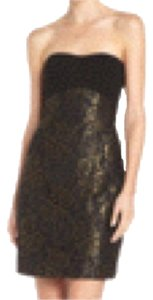 Diane von Furstenberg short dress Black Wedding Guest Little Lace Metallic on Tradesy