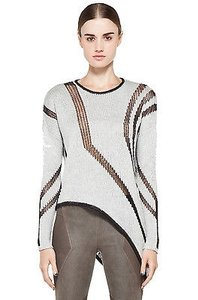 Helmut Lang Asymmetical Wavy Knit Sweater
