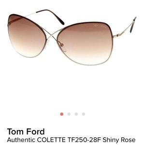 Tom Ford Tom Ford New Rose Gold Sunglasses Colette TF 250