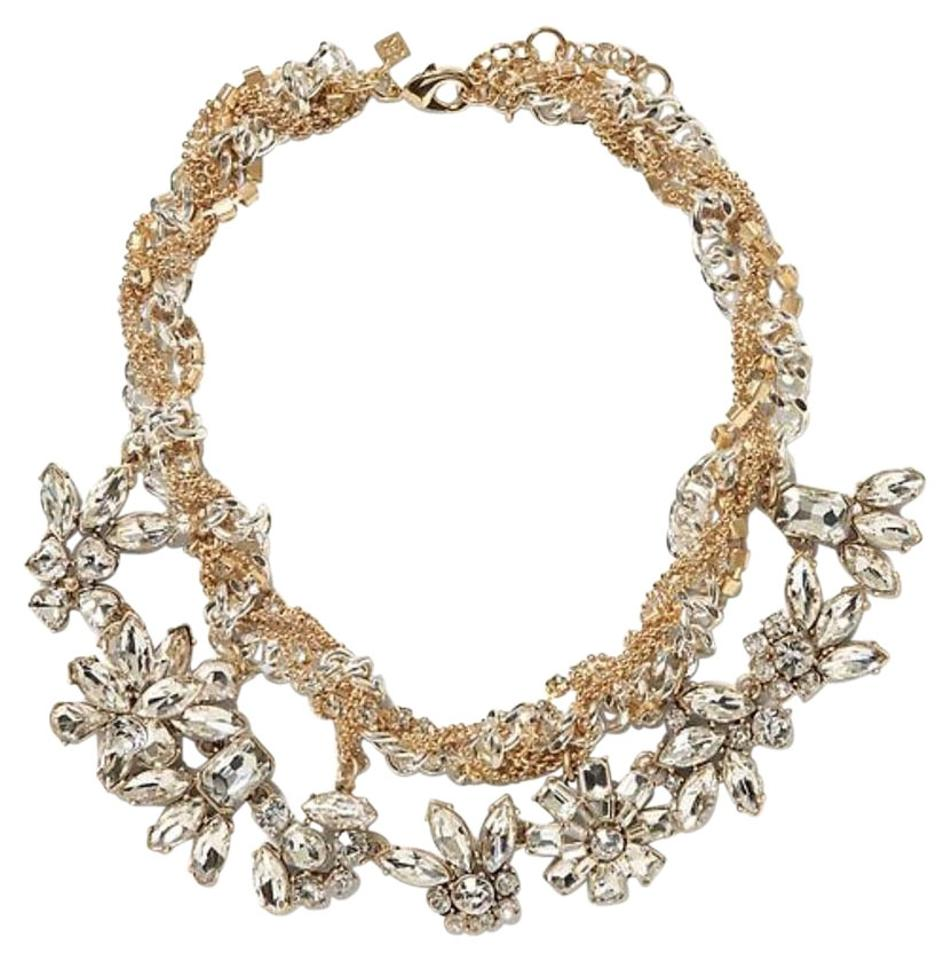 bfb2ade76 Banana Republic Gold/Silver New Crystal Statement Necklace - Tradesy