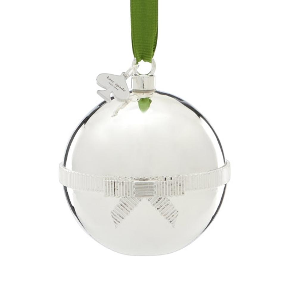 Kate Spade Silver Lenox Ornament with Bright Green Surprise Interior ...