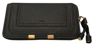 Chlo NWT Chloe Marcie Black Leather Zip Wallet