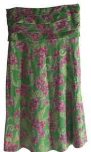 Lilly Pulitzer short dress Green / Pink Cover-up on Tradesy
